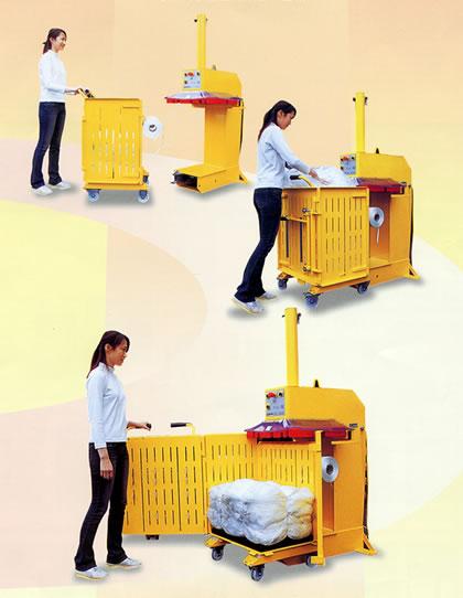 圧縮減容梱包機 RECYCLE COMPACTOR CL46